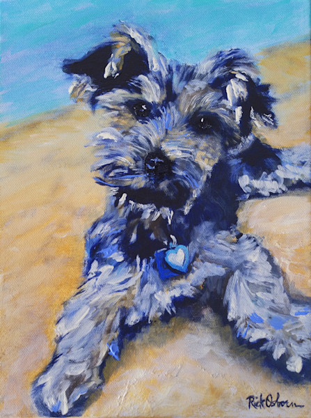 Lilo   Yorkshire Terrier Fine Art Pet Painting Print