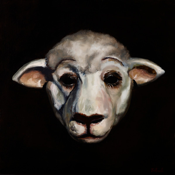 Sheep Mask - paper print
