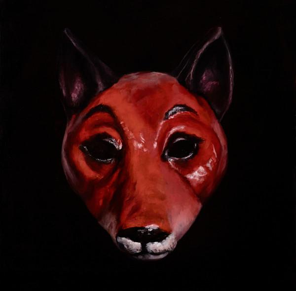 Fox Mask - paper print