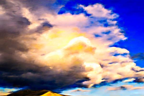 Sacred Light III painting by Christina Stefani
