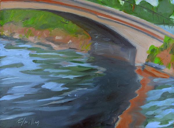 Esplanade Footbridge painting by Paul William | Fine Art for Sale