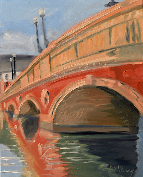 Weeks Footbridge from East painting by Paul William | Fine Art for Sale