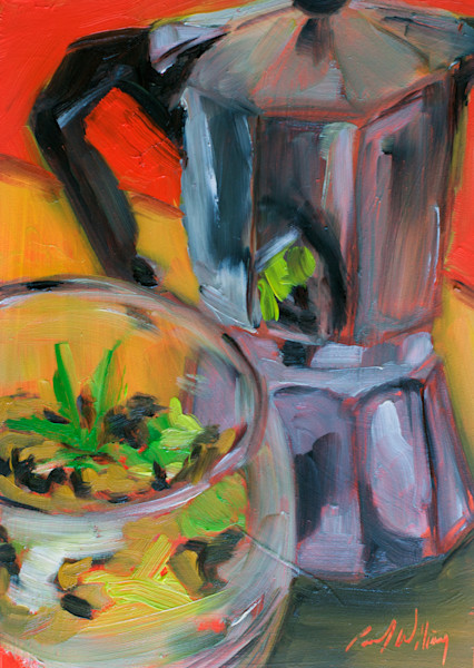 Reflection in the Bialetti by Paul William | Fine Art for Sale