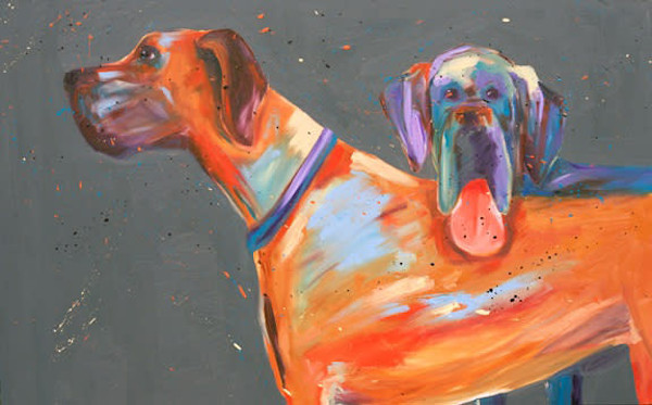 Great Danes painting by Paul William | Fine Art for Sale