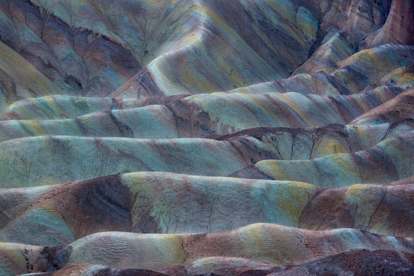 The many colors of Zambriski Point in Death Valley National Park.