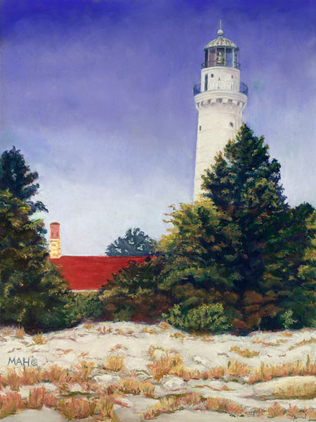 Cana Island Lighthouse print by Mary Anne Hill.