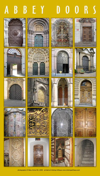Abbey Doors poster print by Mary Anne Hill