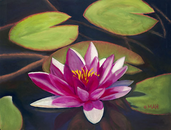 Lotus print by Mary Anne Hill.