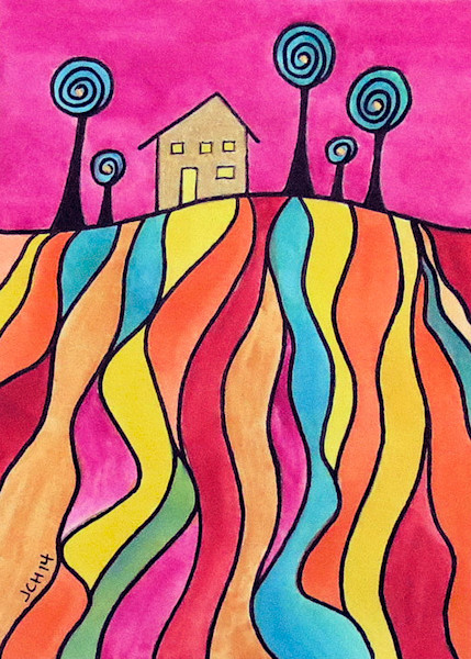House On The Hill Two Art For Sale