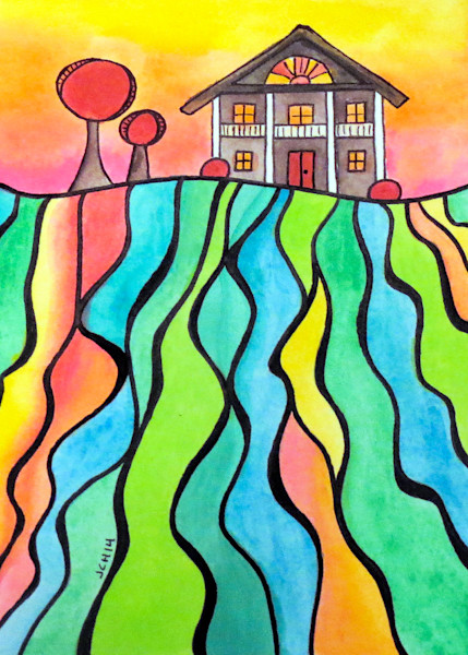 House On The Hill Seven Art For Sale