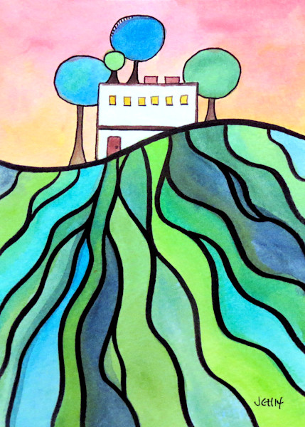 House On The Hill Eight Art For Sale