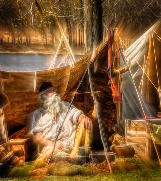 Art Photograph Encampment By The River fleblanc