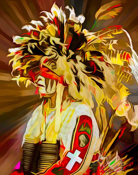 Art Photograph Pow Wow Dancer v3 fleblanc