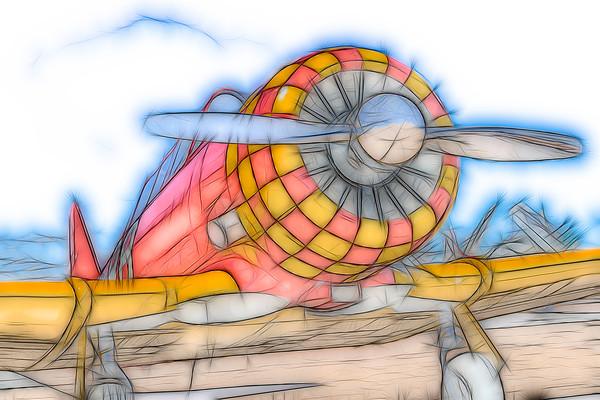 Art Photograph Art Photograph T-6/AT-6 Texan Trainer v1 Abstract fleblanc