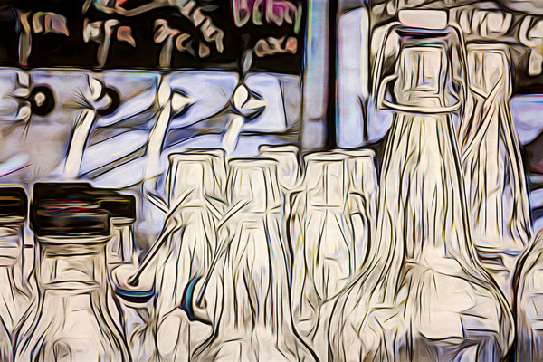 Art Photograph High Contrast Bottles v2 fleblanc