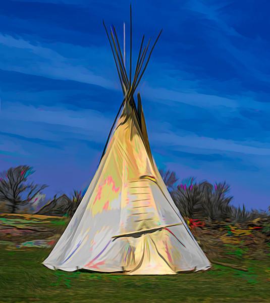 Art Photograph Native American Tipi v2 fleblanc