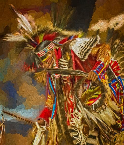 Art Photograph Pow Wow Dancer v10 fleblanc