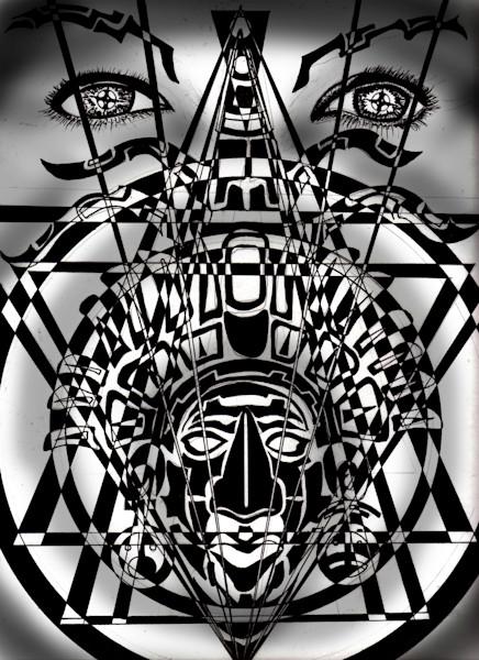 Mayan black and white