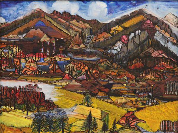 View of hills art print