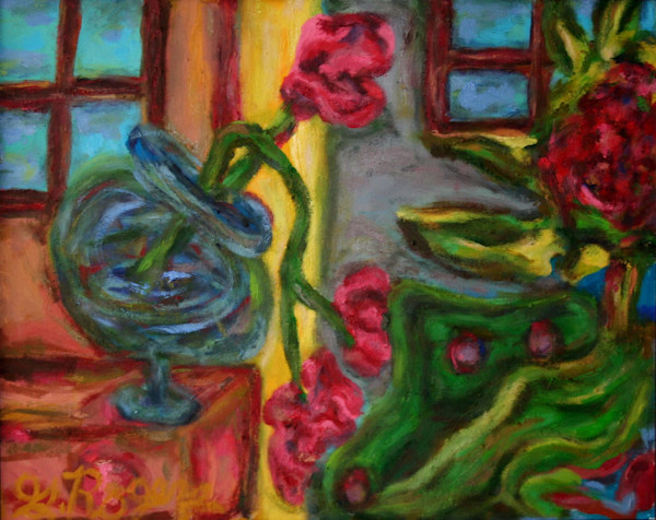 """Matted and Framed Original works by award winning """"Foot Painter"""" Gregory S. Rogers."""