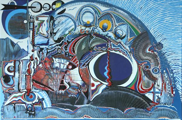 Trippy glossy psychedelic artwork