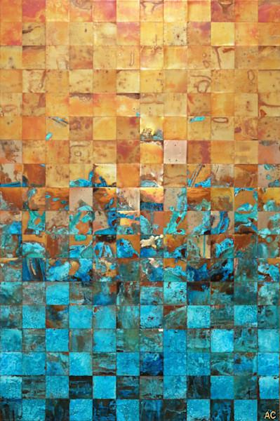 Oxidized copper fine artwork for sale by professional artist Adam Colangelo.