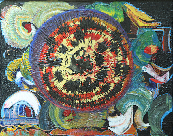 Pomegranate psychedelic art prints
