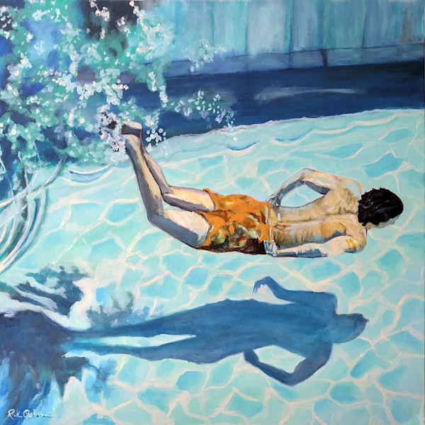 The Swimmer | Original Fine Art Painting by Rick Osborn