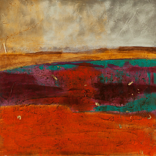 Canyon Echo contemporary abstract landscape painting by Jana Kappeler