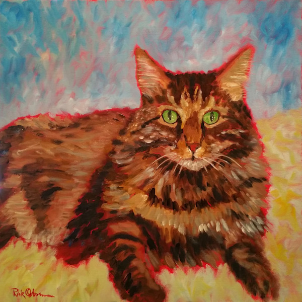 Bert   Fine Art Print of Fluffy Cat by Rick Osborn