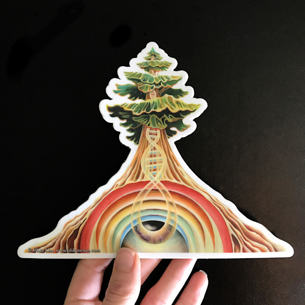 Rainbow Tree - Die Cut Art Stickers | Ishka Lha
