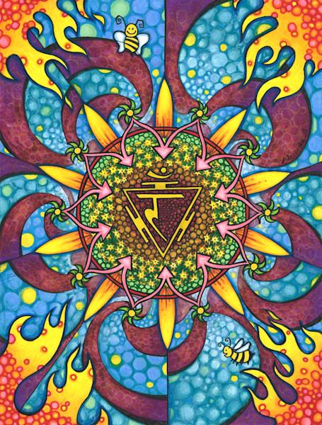 solar plexus art chakra mandala