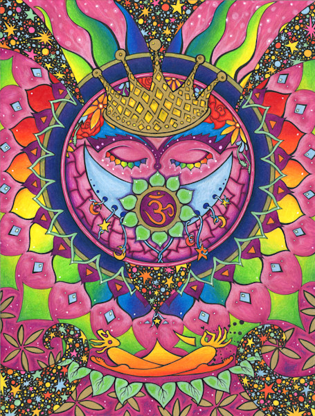 crown chakra, colorful mandala art, rainbow