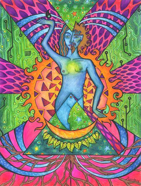 duality, mixed-media, mandala