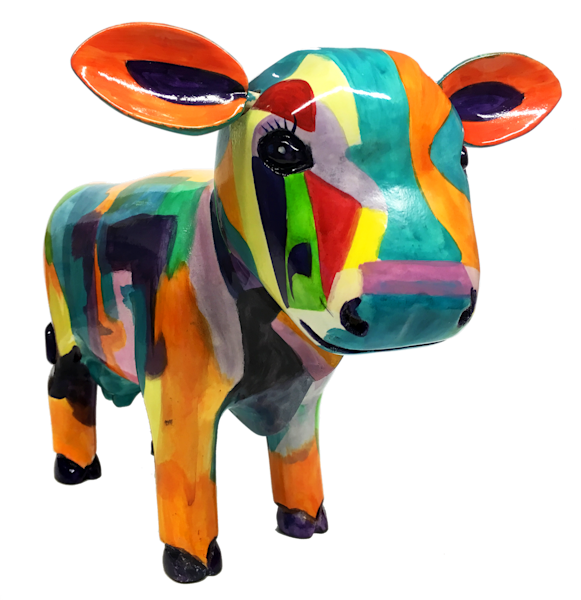 Painted Cow Sculptures | Southwest Art Gifts | Tucson