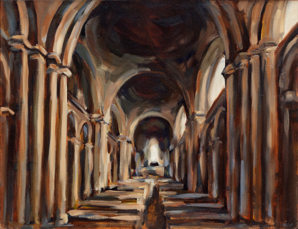 Angouleme Cathedral Interior by Michelle Arnold Paine