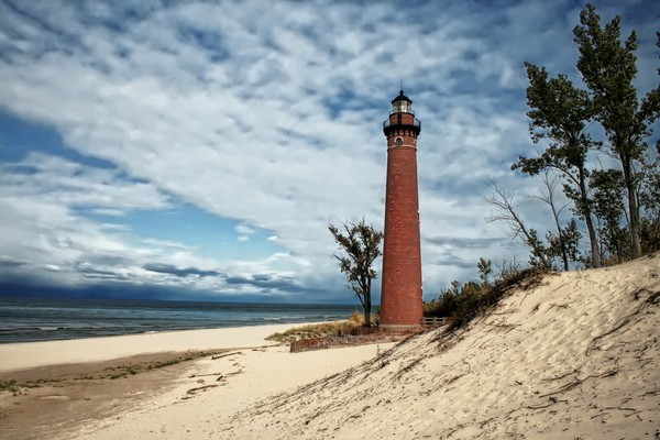 Little Sable Point LightOn Lake Michigan in Mears, Michigan.