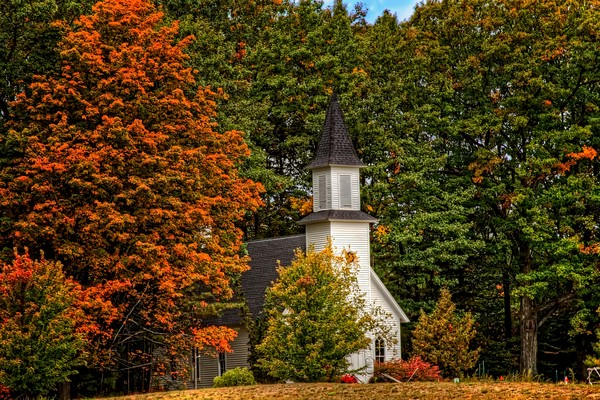 historic, church, peninsula, lower-michigan, high-dynamic-range-photograph