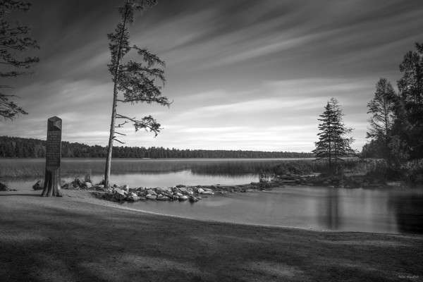 Black and White Mississippi Headwaters
