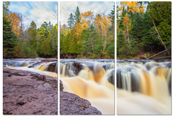 3-Piece Scenic Canvas Wall Art - Gooseberry Autumn | William Drew Photography