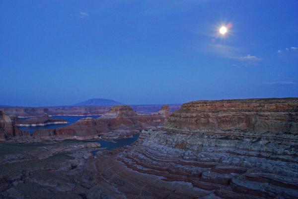 Moonrise at Lake Powell, Arizona