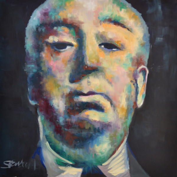 Alfred Hitchcock Portrait by Pop Artist Steph Fonteyn