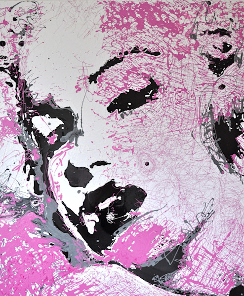 Marilyn Monroe Drip Painting by Steph Fonteyn