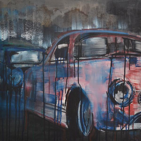 VW Karmann Ghia Original Painting by Steph Fonteyn