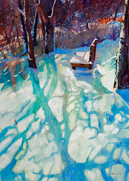 Paintings of winter by Carol Dickie