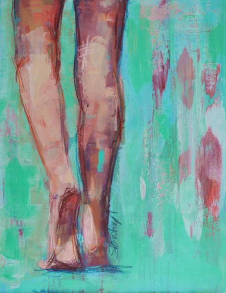Beach Legs Original Painting by Steph Fonteyn