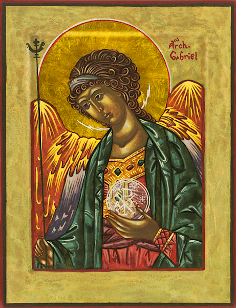 Archangel Gabriel print by Nancy Gezella.