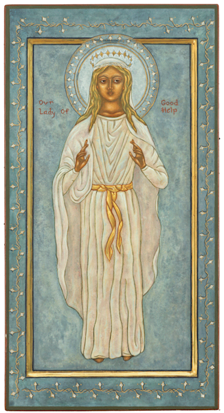 Our Lady of Good Help print by Nancy Gezella.