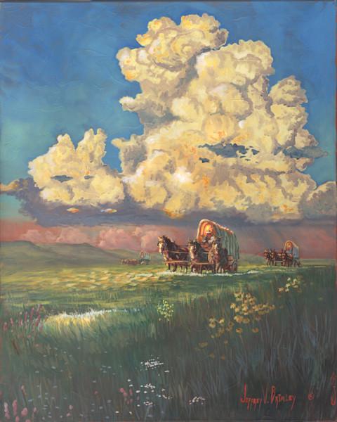 Pioneer Prairie Schooners Print