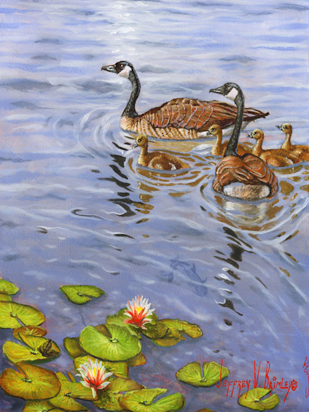 Family of geese prints